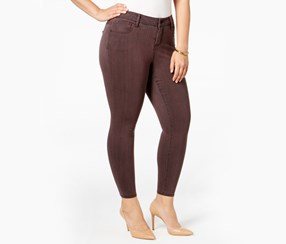 Plus Size Trendy Jeggings Jeans, Burnt Red
