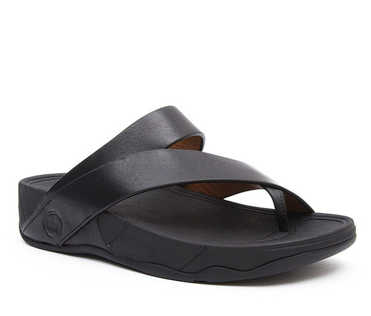 Fitflop Men S Sling M Leather Thong Sandal Black Brands
