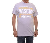 Nascar Checkered Flag Sports Men's Graphic Short Sleeve T-Shirt, Silver