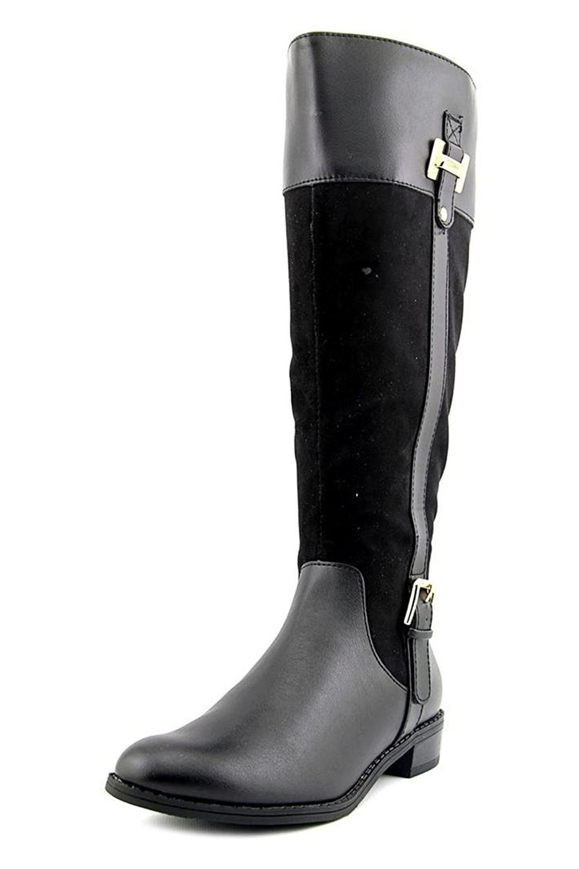 Deliee Women's Knee High Boot, Black