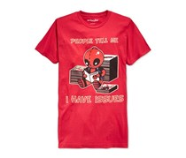 We Love Fine Deadpool I Have Issues Graphic T-Shirt, Red