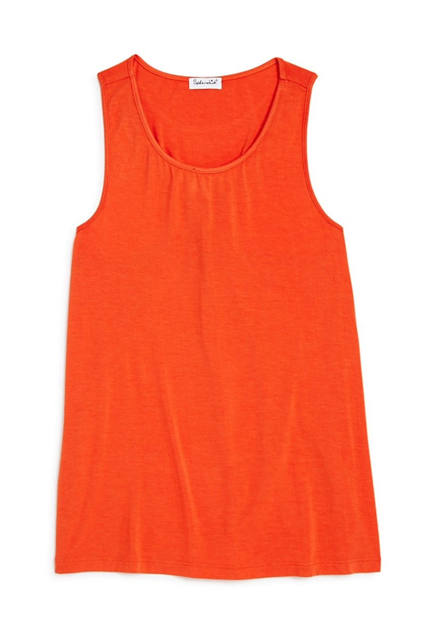 Girls' Twist Back Tank, Orange