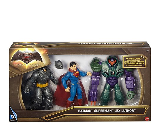 Batman v Superman Dawn of Justice Lex Luthor Figure 3-Pack