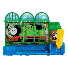 Fisher-Price My First Thomas & Friends Engine Match Express Knapford Station Playset, Green/Blue