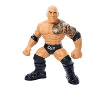 WWE 3 Count Crushers The Rock Figure, Black/Brown