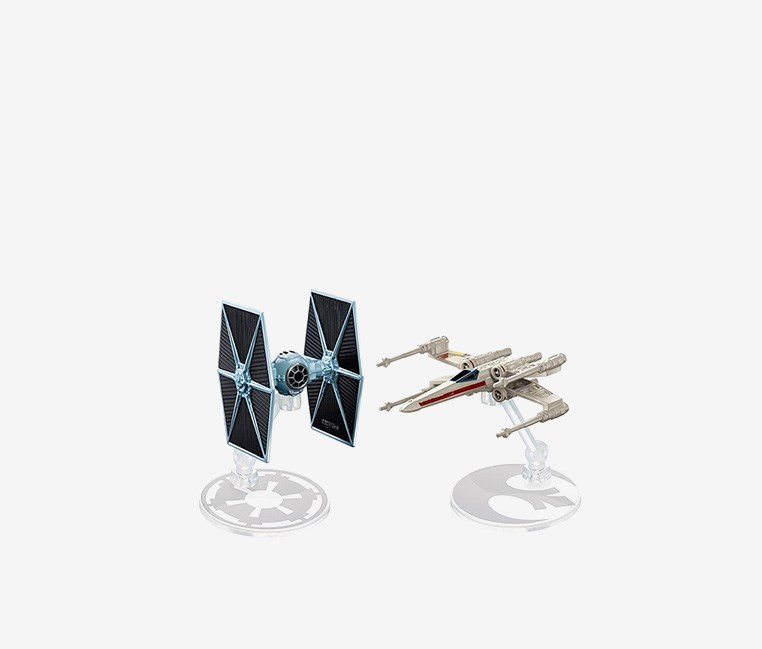 Star Wars Tie Fighter vs. X-Wing, Blue/Off White