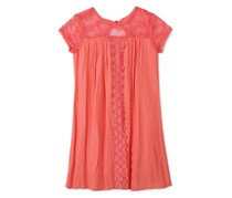 Lace Swing Dress, Coral