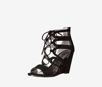 Carlos by Carlos Santana Madelyn Lace-Up Wedge Sandals, Black