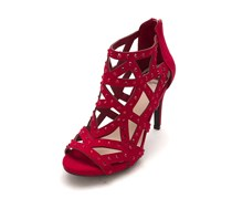 Womens Histeria2 Fabric Open Toe Casual Strappy Sandals, Red