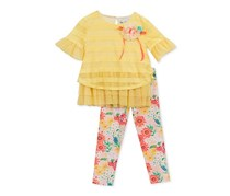Rare Editions 2-Pc. Layered-Look Tunic & Leggings Set, Butter