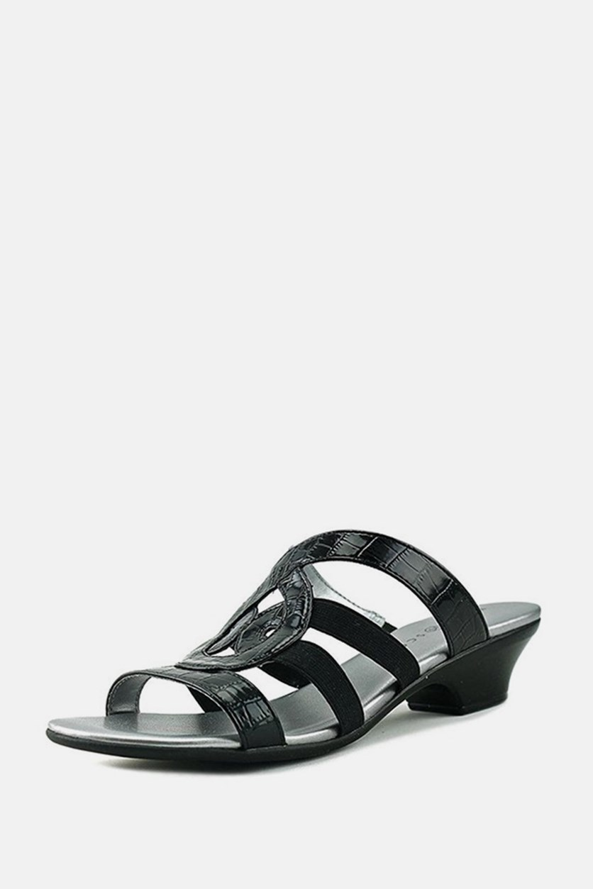Emmeer Slip On Heeled Sandals, Black