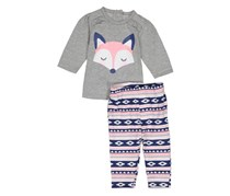 Emily and Oliver Toddler's Graphic Print Set, Grey/Pink/Navy