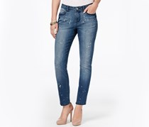 Earl Jeans Bleach-Splatter Skinny Jeans, Denim Wash