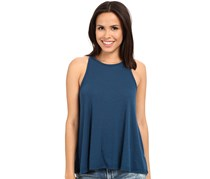 Free People Long Beach Ribbed Tank Top, French Blue