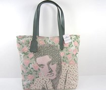 Coach Elvis Black Floral Canvas Tote Bag Handbag, Chalk Combo Floral