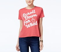 Doe Juniors Scroll Down Shirt, Heather Red