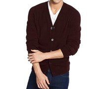 Weatherproof Men's  Cardigan Sweater, Bordeaux