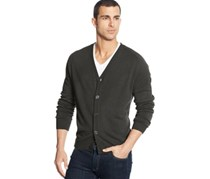 Weatherproof Men's  Cardigan Sweater,Dark Green Heather