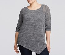Eileen Fisher Plus Open Waffle Knit Tunic, Gray