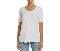 T Tahari Florence Embellished High/Low Top, Antique