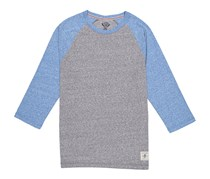 Flag & Anthem Men's Snow Heather Core Raglan, Heather Grey/Blue