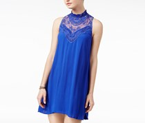 Juniors Embroidered Shift Dress, Royal Blue