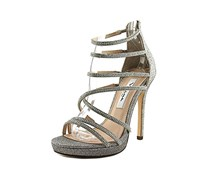 Nina Finessa Strappy Evening Sandal, Latte Dreamland