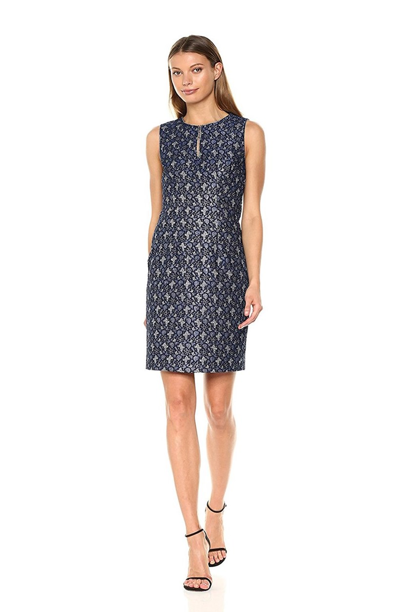 Women's Dakota Dress, Navy/Silver