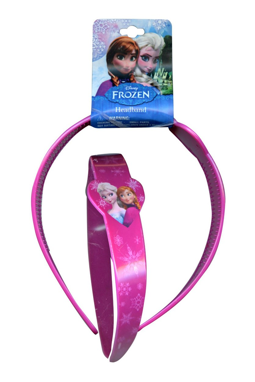 Frozen 1 Piece Plasctic Printed Head Band, Pink