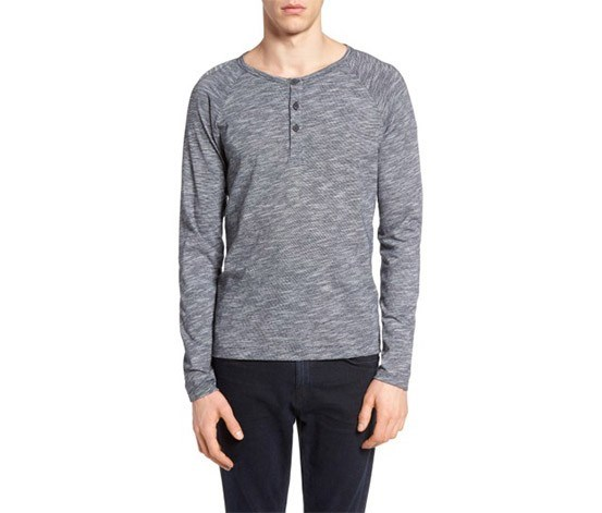 bd9527ac2915 Theory Men s Adrik L Ocean Slub Knit Henley Top