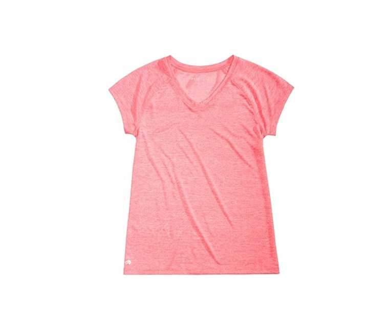 Big Girls Heathered V-Neck T-Shirt, Flashmode