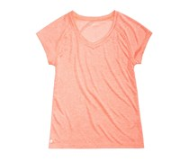 Ideology Girls Heathered V-Neck T-Shirt, Orange
