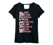 Ideology Girls' Never Stop Graphic-Print T-Shirt, Black