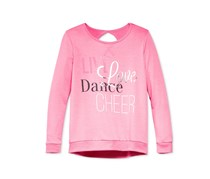 Ideology Girls' Cheer Graphic-Print Sweatshirt, Pink Hustle