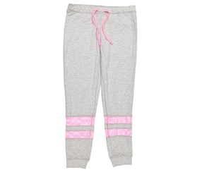 Ideology Girls' Banded Sweatpants, Gray/Pink