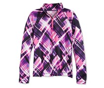 Ideology Quarter-Zip Jacket, Performance Plaid