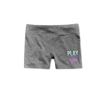 Ideology Girls Play Like a Girl Active Shorts, Charcoal