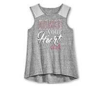 Ideology Girl's Graphic Tank Top, Charcoal Heather