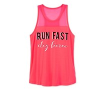 Ideology Run Fast, Stay Fierce Graphic-Print Tank Top, Flashmode
