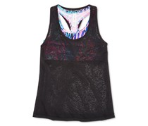 Ideology Tank Top with Built-In Bra, Noir