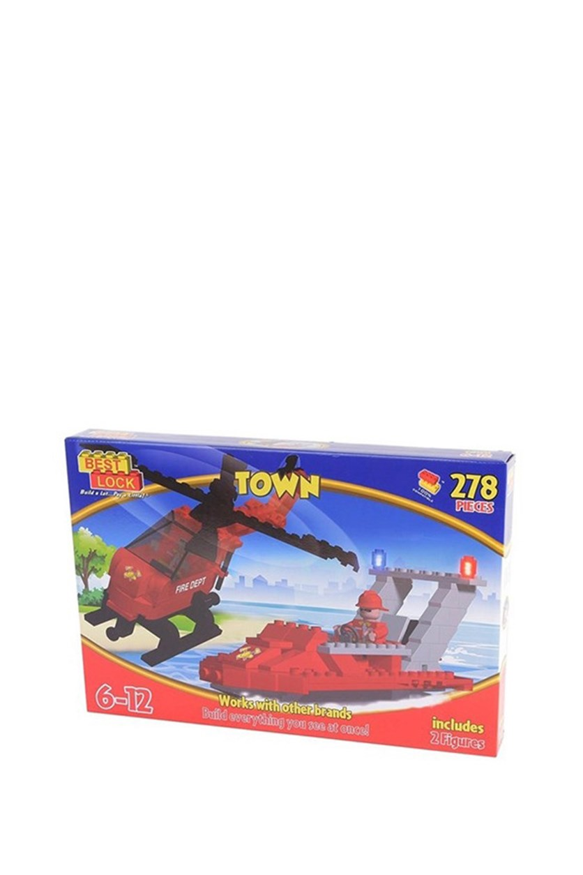 Best Lock Helicopter and Boat Lego, 278 Pieces