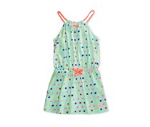 Roxy Dot-Print Cotton Tank Dress, Mint