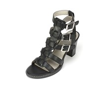 White Mountain Women's Gemmy Gladiator Sandal, Black
