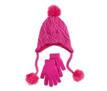 Berkshire Girls 2-Pc. Heidi Hat Glove, Light Pink