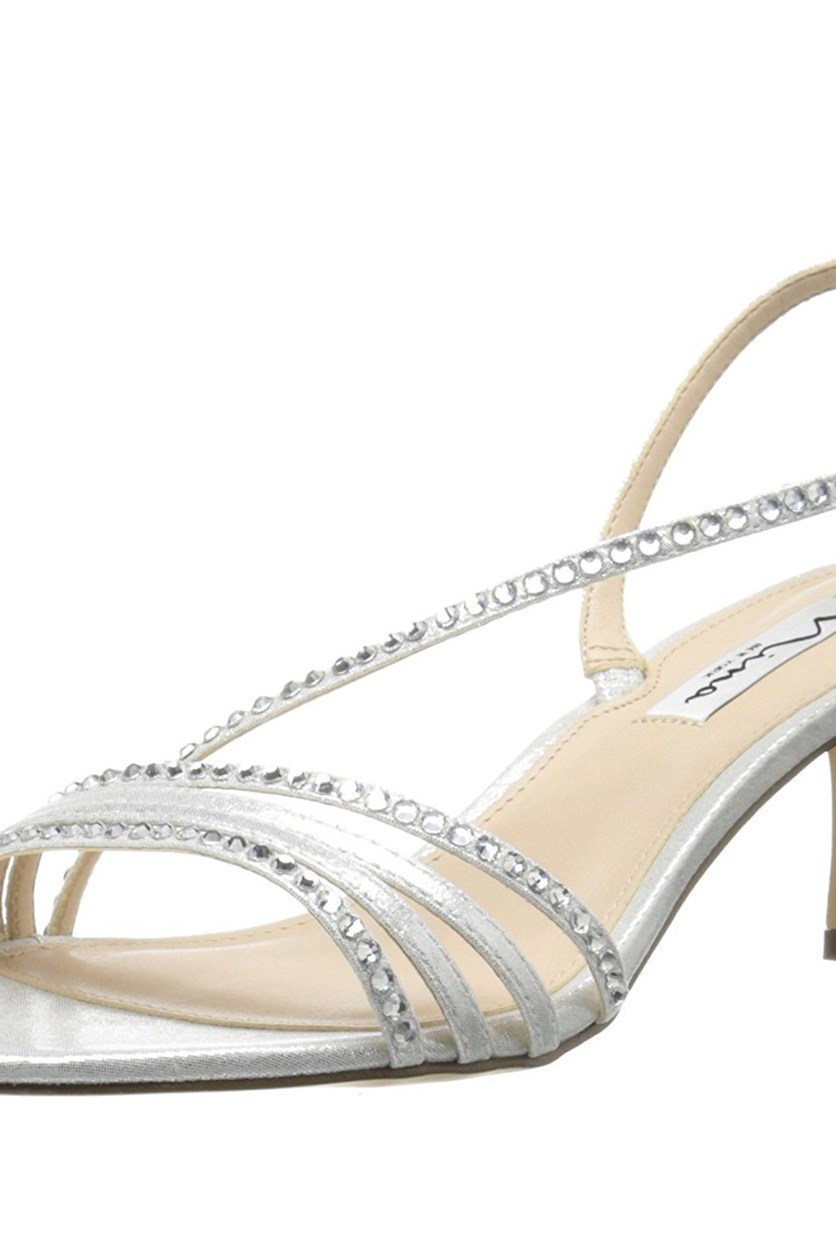 Women's Gerri-Fy Dress Sandal,Silver Reflect Suedette