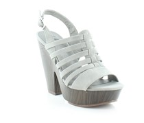 G by GUESS Seany Platform Wedge Sandals, Dark Grey