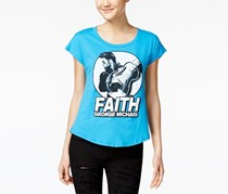 Women's George Michael Faith Top, Turquoise Blue