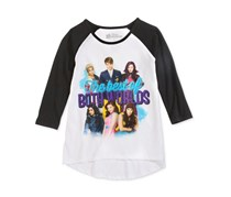 Big Girls' Both Worlds Raglan Tee, White / Black
