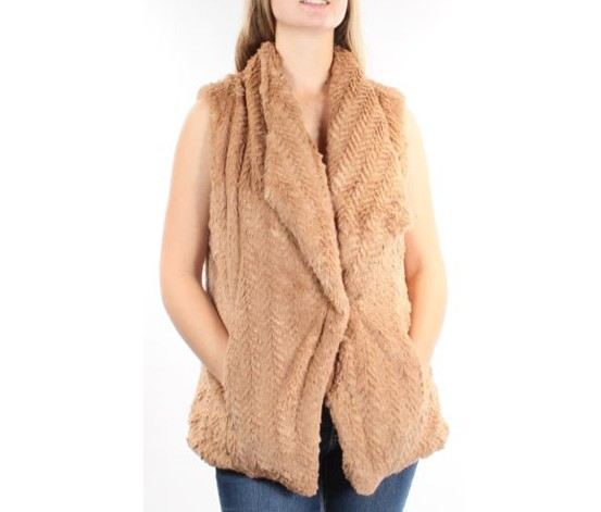 Wildflower Women's  Faux-fur Vest, Brown