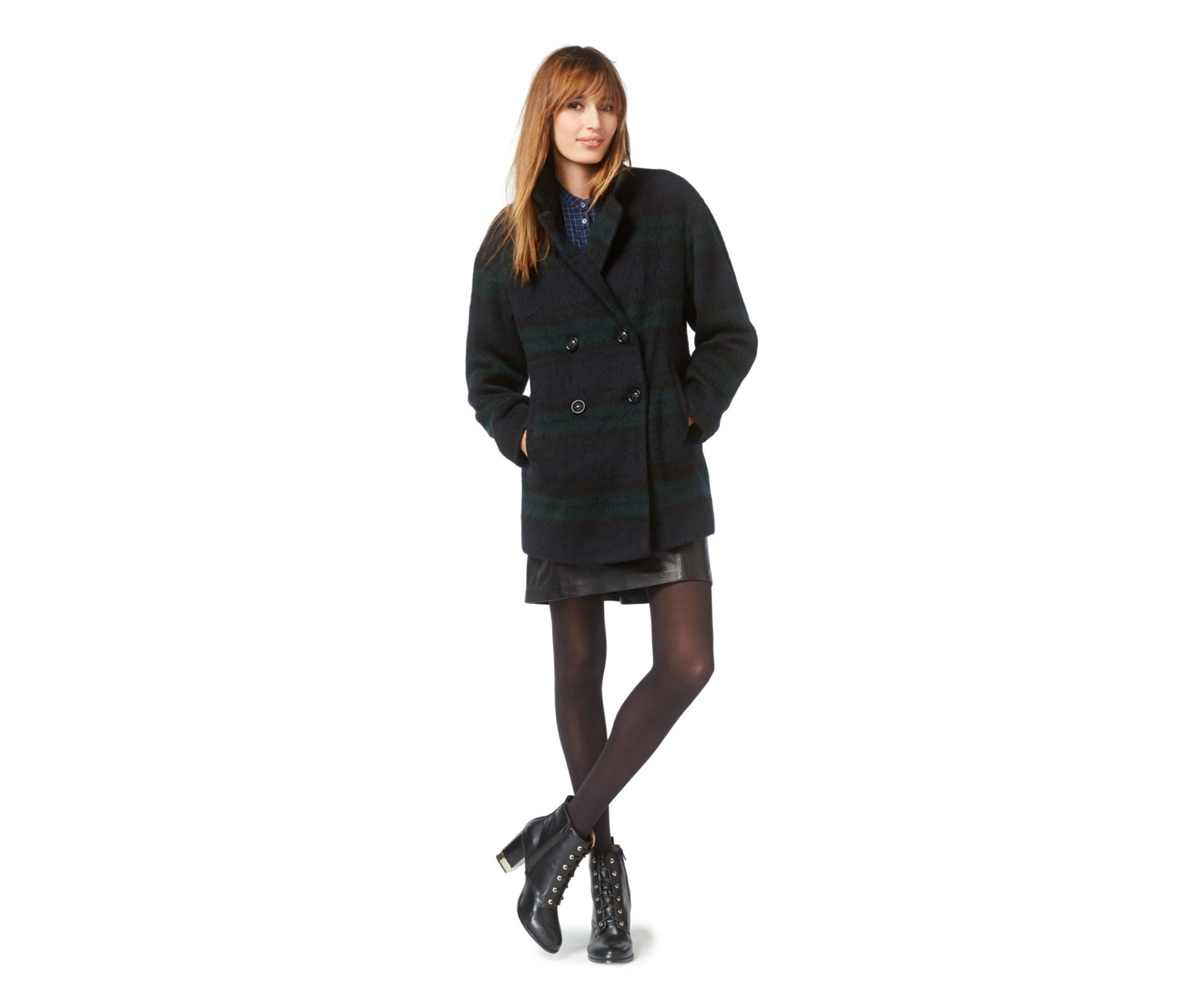 Wildflower Double-Breasted Wool-Blend Coat